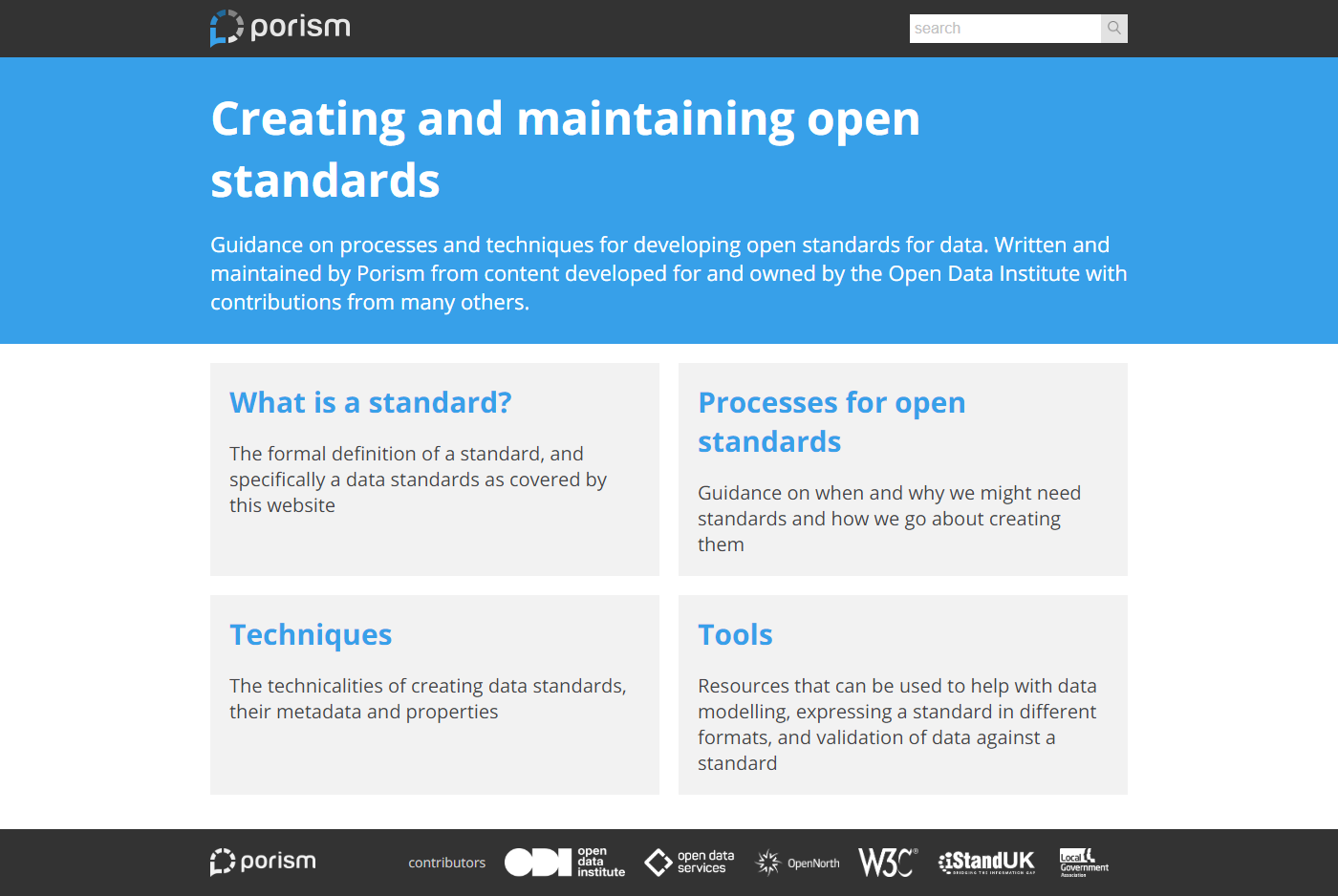 the Creating and maintaining open standards